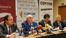 El Consejo Aragonés de Cámaras, CEOE y CEPYME reclaman inversiones urgentes en infraestructuras ferroviarias y de carretera por el Pirineo Central